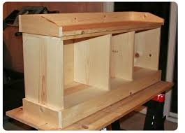 Free Woodworking Plans Outdoor Storage Bench by Entryway Storage Bench Plans Free Friendly Woodworking Projects