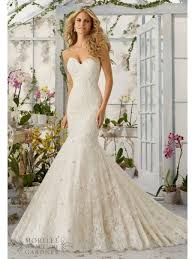 lace mermaid wedding dress mori 2820 strapless lace mermaid wedding dress ivory