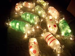 Christmas Light Ideas Indoor by Light Up Candy Garland Cut Ends Off Soda Bottles Paint Candy