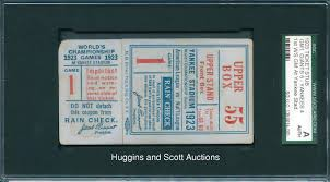 1923 world series game 1 ticket stub u20141st ws game at yankee stadium
