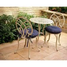 navy blue 17 inch round indoor outdoor bistro chair cushion set