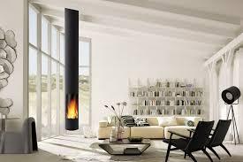 interiors hanging wood fireplace slimfocus suspendu also slanted