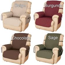 Microfiber Sofa Cover Deluxe Microfiber Recliner Cover By Oakridge Comforts Miles Kimball