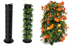 amazon com flower tower freestanding planter 3 feet tower