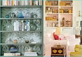 weekend project diy wallpapered bookshelf pepper design blog