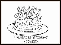 happy birthday cake coloring pages for mom dad grandma grandpa