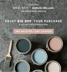 west elm 15 off our fall paint collection with sherwin williams