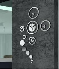 wall clock modern wall decor clocks silver wall clocks modern astounding software set