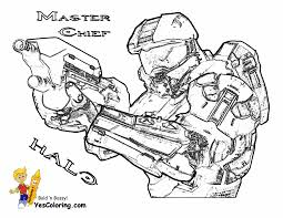 master chief coloring pages funycoloring