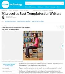 8 free microsoft office templates for writers cindy grigg