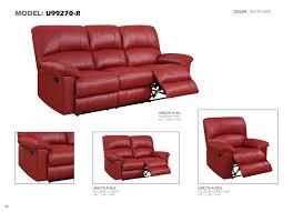 Red Loveseat U99270 Red Pu Reclining Loveseat By Global Furniture