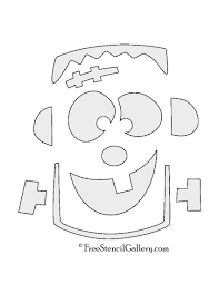 Printable Pumpkin Patterns by Frankenstein Monster Stencil Free Stencil Gallery