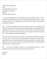 letter of recommendation for student letter pinterest