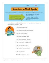 nouns as direct objects worksheet