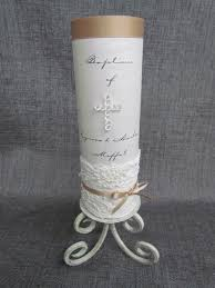 baptism candle christening candles with great motifs and decorations hum ideas