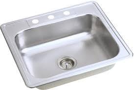 Elkay Kitchen Sink Elkay D125211 25 Inch Drop In Stainless Steel Sink With 6 1 2 Inch