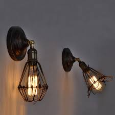 Bedroom Wall Sconces Lighting Vintage Industrial Ceiling Lamp Antique Style Chandeliers Light