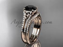 celtic wedding sets black celtic bridal sets by anjaysdesigns