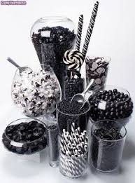 Black And White Candy Buffet Ideas by Red Black And White Candy Buffet For A Fundraising Poker