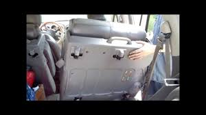 how to remove the back seats from a chrysler pt cruiser step by
