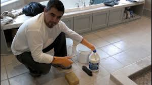 cleaning floor grout