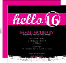 sweet sixteen invitations sweet 16 birthday invitations