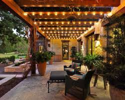 lights add up to the romantic look of the outdoors