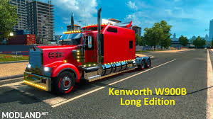 kenworth europe kenworth w900b long edition fixed by h trucker mod for ets 2