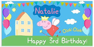 peppa pig birthday peppa pig birthday banner personalized party backdrop