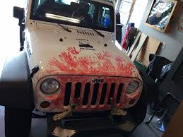 zombie hunter jeep zombie jeep tire cover looks great the zombie hunter now
