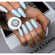 baby blue coffin nails nail gallery