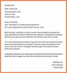 letter termination of lease landlord notice of termination of