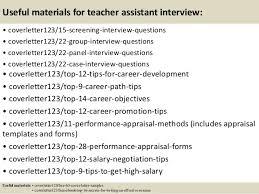 top 5 teacher assistant cover letter samples