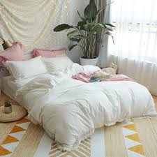 soft bed sheets 100 cotton soft bed sheet set girls white pink grey bedding sets