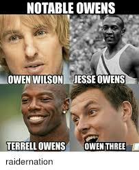 Terrell Owens Meme - notable owens terrell owens jesse owens nfl memes owen six owen