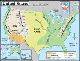 map us landforms state reports
