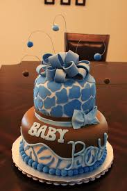 giraffe baby shower cakes layers of blue giraffe baby shower cake