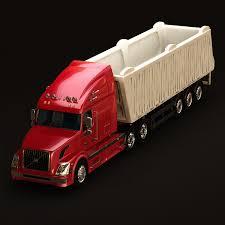 volvo semi truck models 3d model volvo vnl670 trailer truck cgtrader