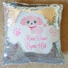 personalised magic sequin hidden message mermaid cushion cover