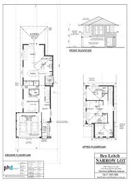 Narrow House Plans by Enchanting 9m Wide House Plans Images Best Image Engine Jairo Us