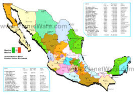 New Mexico State Map by Map Of Mexico Mexican States Planetware