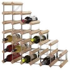 wine rack assembled 27 bottle under stair natural pine love