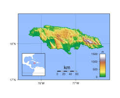 Jamaica Map Jamaica Physical Map Map Physical Jamaica Mapsofnet Free