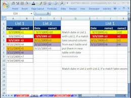 excel compare two tables find only matching data excel magic trick 382 match two lists extract column data from