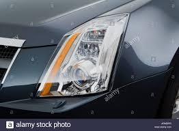cadillac cts di 2008 cadillac cts di performance in gray headlight stock photo
