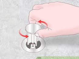 Ways To Unclog A Slow Running Bathroom Sink Drain WikiHow - Bathroom sink drain clog 2