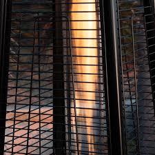 glass tube patio heater belleze 014 hg ph42 blk 42 000 btu outdoor deluxe patio heater