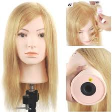 hairstyles to do on manikin 16inch 100 human hair blonde mannequin salon training female