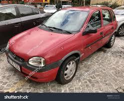 vintage opel car istanbulturkeyfebruary 102017old opel corsa parking gayrettepe