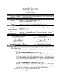 Latex Template Resume Sample Resume For Computer Science Graduate Free Resume Example